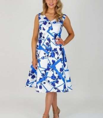 Ella Boo Sleeveless False Wrap Dress