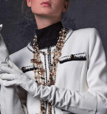 Camelot Ecru Chanel Style Blazer