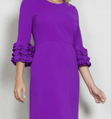 Daisy May Purple Ruffle Cuff Dress