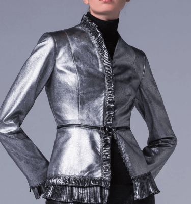 Camelot Silver Frill Detail Jacket