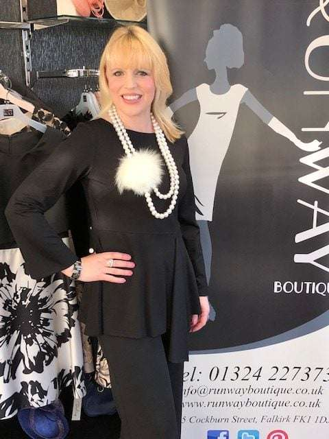 Camelot Black Fitted Tunic with Mock Wrap Detail (Necklace Sold Separately)