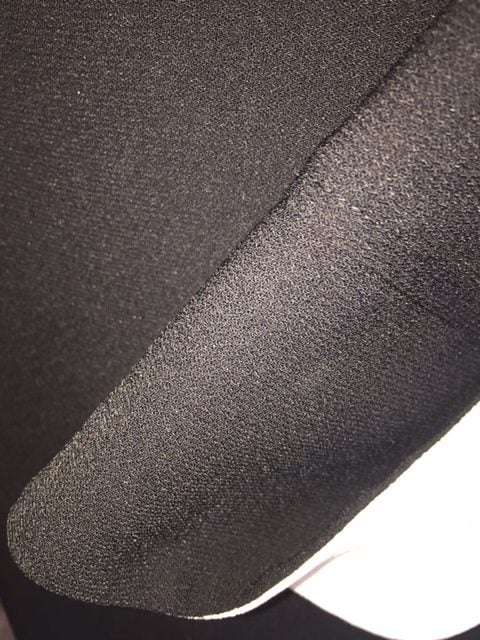 Camelot Black Diamante Button Dress with Side Stripe Detail