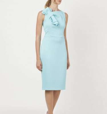 CAMELOT - Duck Egg Sleeveless Fitted Dress