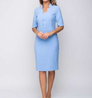 KATE COOPER - Lilac Fitted Dress with 3/4 Sleeve