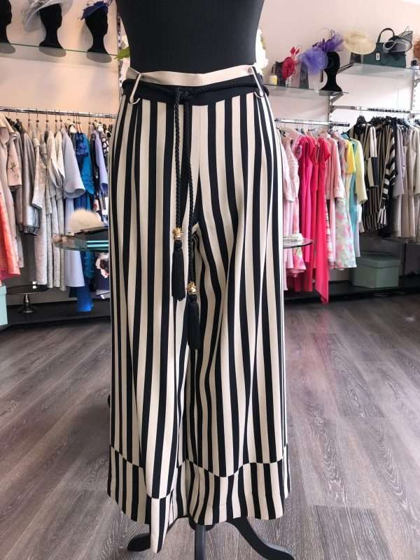 BADOO - Cropped Stripe Trouser with Rope Tie Detail