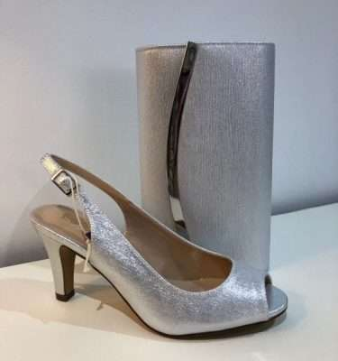 Lotus Silver Metallic Larissa Sling Back Shoe