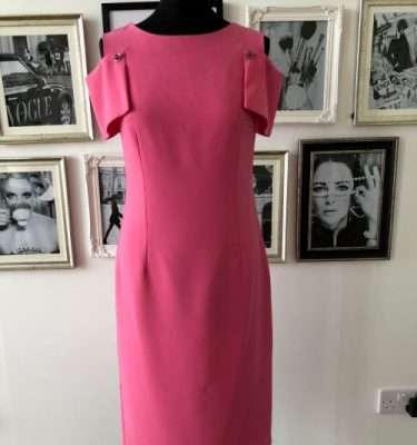 Kate Cooper Dusky Pink Cold Shoulder Dress