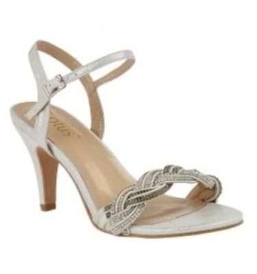 Lotus Jasmine Silver Diamante Sandal