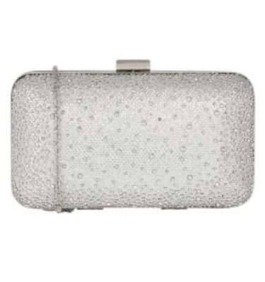 Lotus - Lule Silver Diamante Clutch Bag