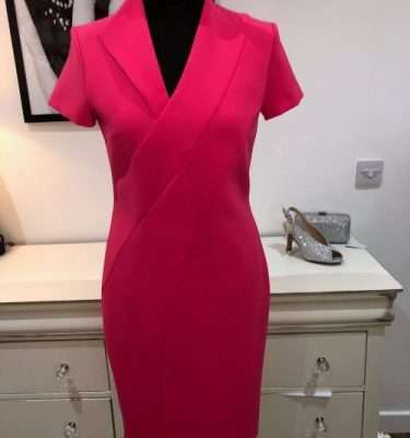 Kate Cooper Poppy Red Fitted Dress