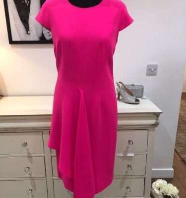 Ella Boo - Hot Pink Ruffle Pleat Dress