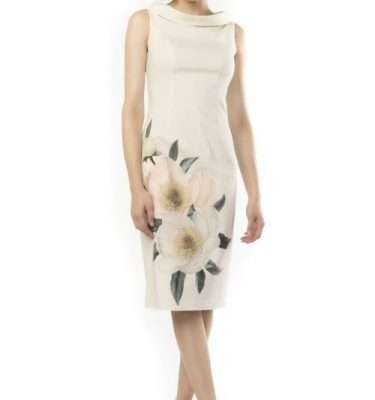 Camelot Sleeveless Floral Applique Dress