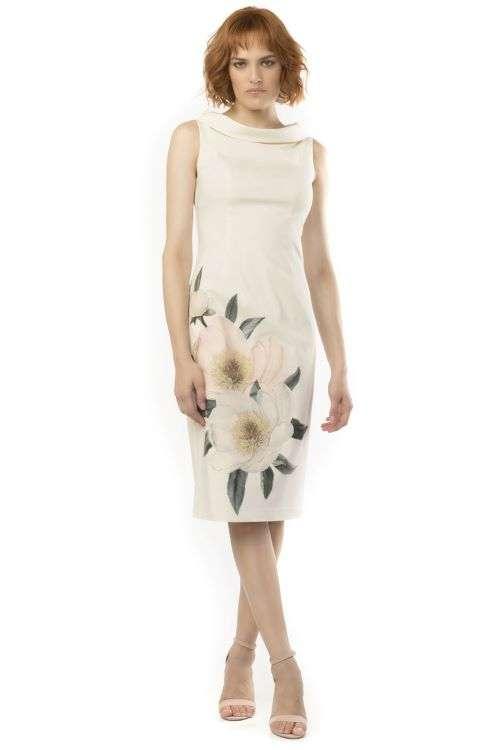 Camelot Sleeveless Floral Applique Dress