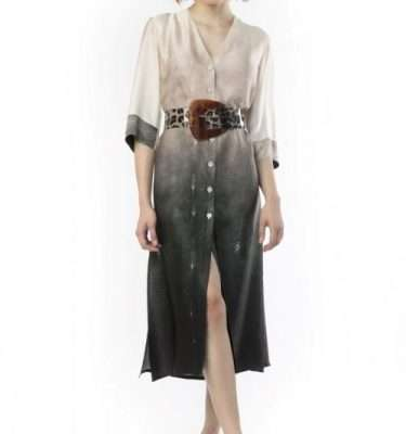 Camelot Long Button Through Tunic Dress - Belt not included
