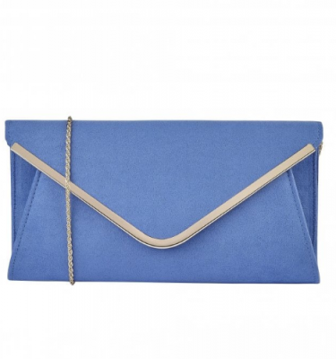 Lotus Sommerton Clutch in Red or Cornflower