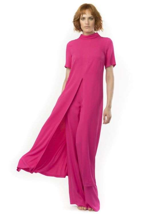 Camelot Hot Pink Short Sleeve Tunic and wide leg trouser