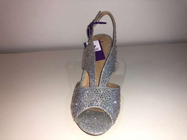 Lotus Silver Diamante Dazzle Shoe