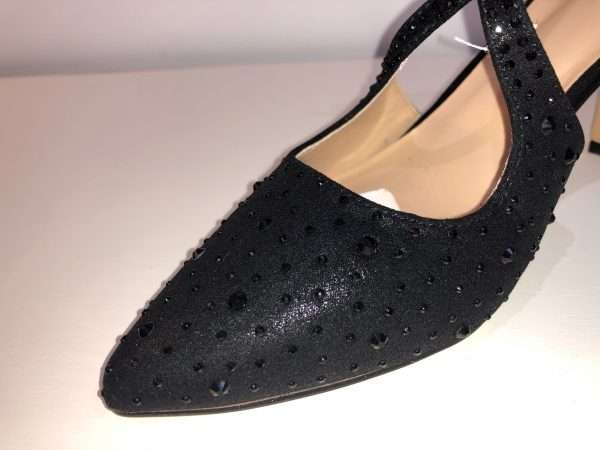 Lotus Panache - Black Diamante Shoe
