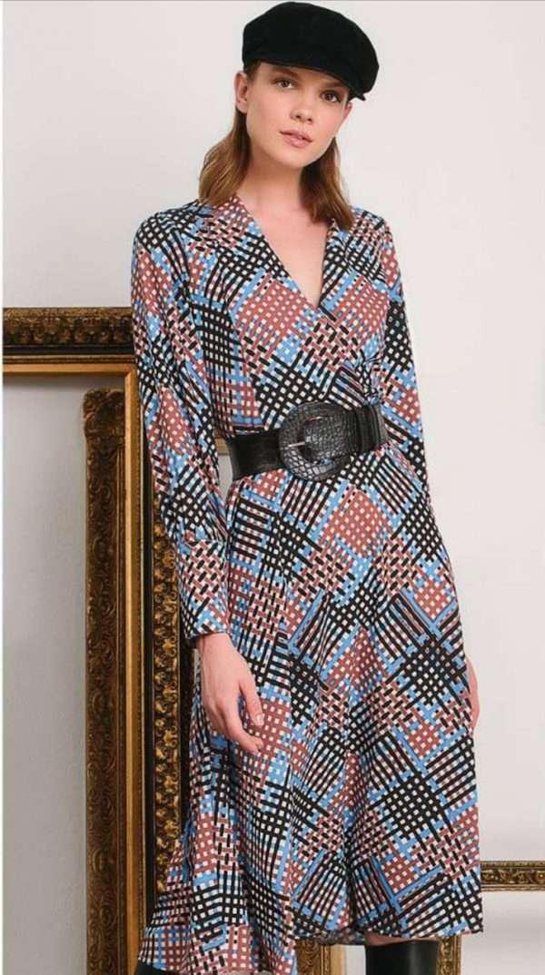 Camelot Blue Print Dress