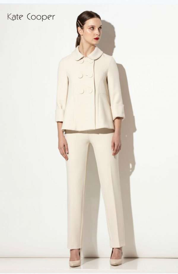 Kate Cooper Cream Double Breasted Jacket and matching cream trouser