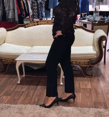 Camelot Black Slim Leg Trousers