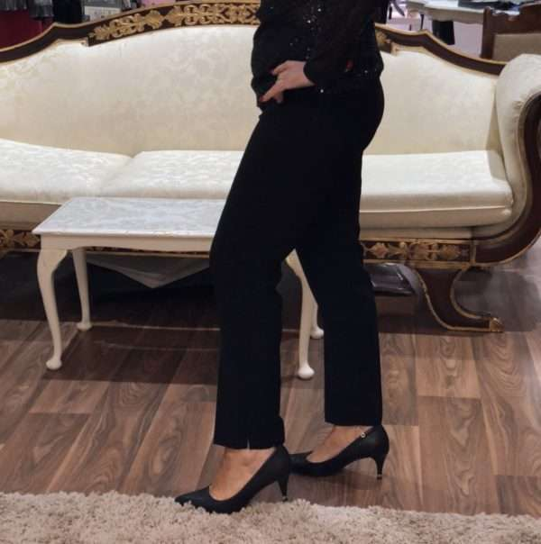 Camelot Black Slim Leg Trousers