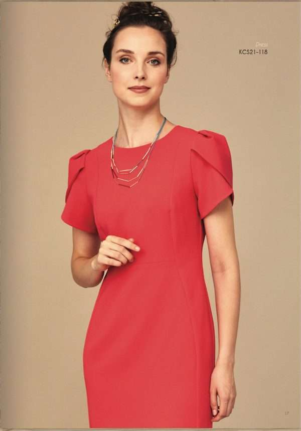 Kate Cooper Red Wrap Pleat Dress