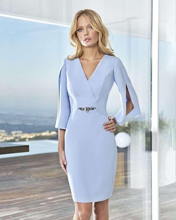 Sonia Pene Sky Blue Split Sleeve Dress