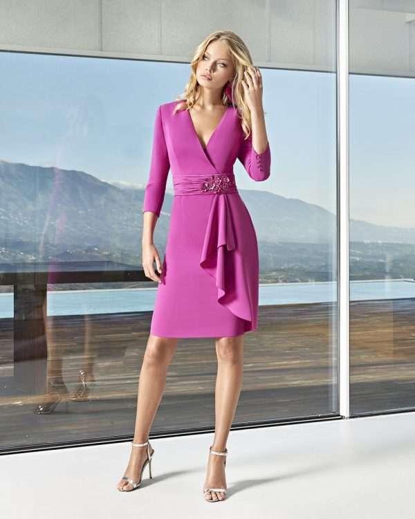 Sonia Pene Fuchsia Wrap Dress