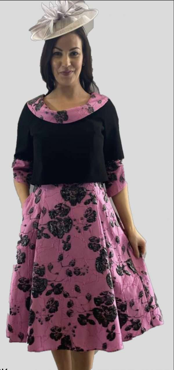 Ella Boo Fit and Flair Dress with Coordinating Bolero Jacket